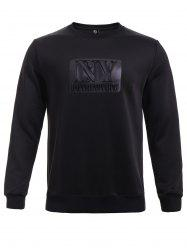 BoyNewYork Solid Color Knurling Long Sleeves Sweatshirt