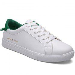Trendy Figure Printed and Color Splicing Design Casual Shoes For Men -