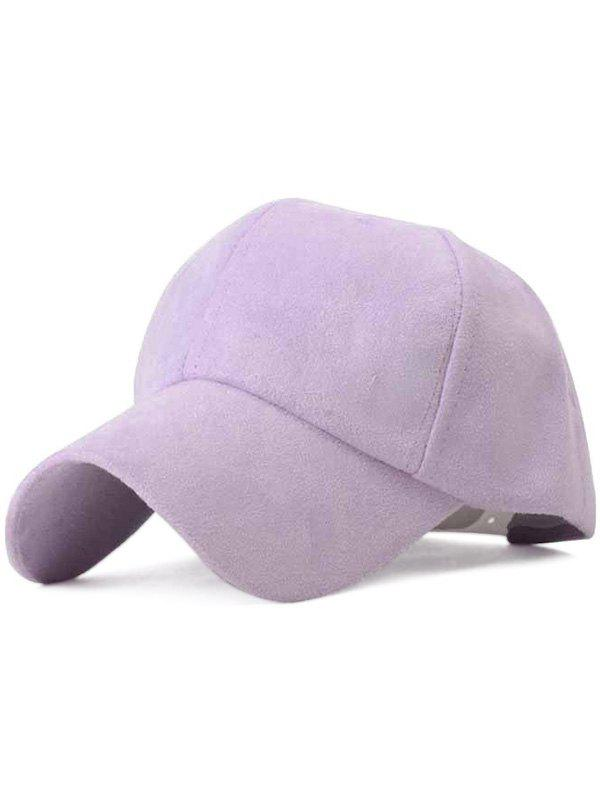 New Chic Ice-Cream Color Suede Baseball Hat