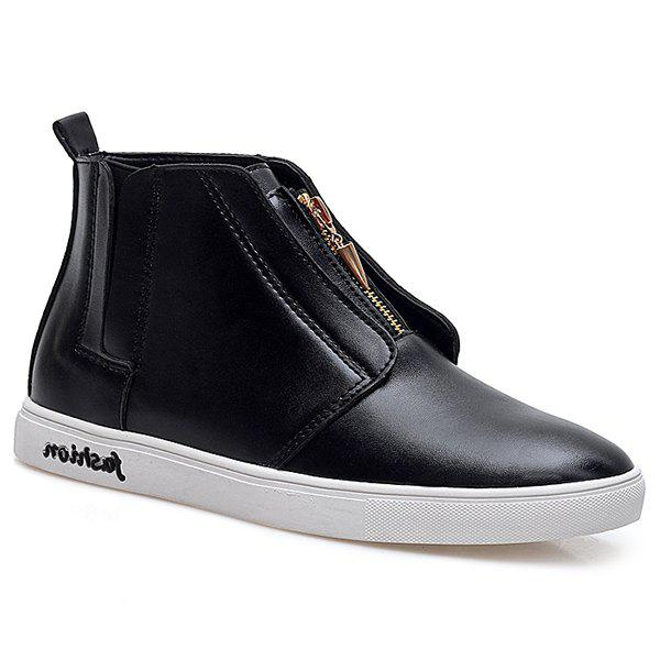 Fashion Stylish Zipper and Solid Color Design Casual Shoes For Men