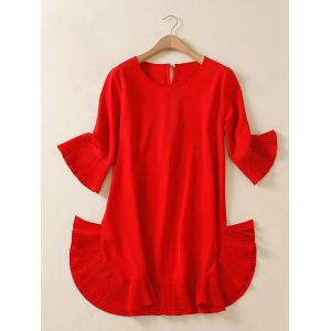Plus Size Flare Sleeve Teen Dress