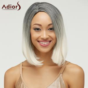 Trendy Short Straight Mixed Color Side Parting Women's Synthetic Hair Wig