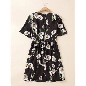 Plus Size Chic Floral Printed Ruched Dress -