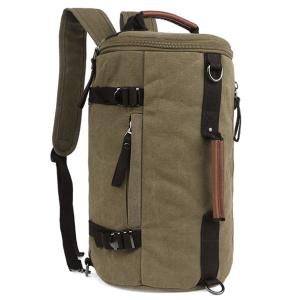 Leisure Zippers and Canvas Design Backpack For Men -