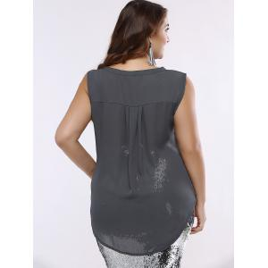 OL Style V-Neck High Low Tank Top For Women -