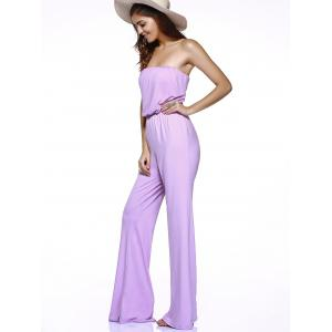 Charming Strapless High-Waisted Tie-Back Women's Jumpsuit -