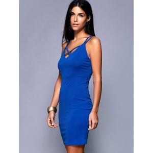 Criss-Cross Backless Zippered Dress -