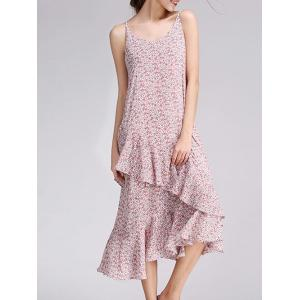 Floral Print Frilly Cami Dress -