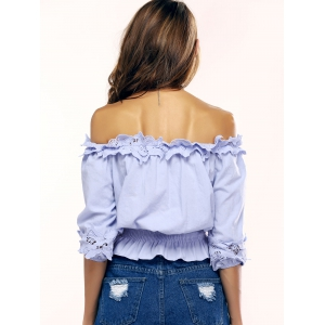 Graceful Off-The-Shoulder Ruffled Blouse For Women -