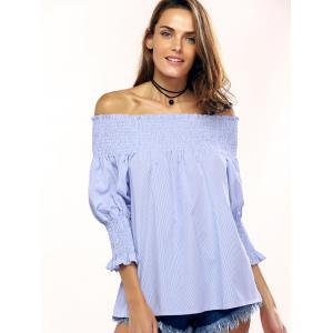 Fashionable Off-The-Shoulder Striped Blouse For Women -