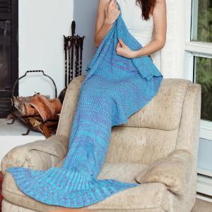Fashionable Knitted Women's Fishtail Blanket -
