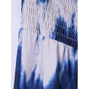 Plus Size Tie Dye Maxi Strapless Dress -