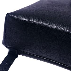 Fashion PU Leather and Zip Design Satchel For Women - BLACK