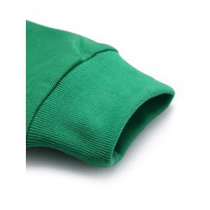 Turn-Down Collar Solid Color Long Sleeve T-Shirt For Men - GREEN M