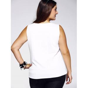Plus Size Casual Star Print Tank Top -