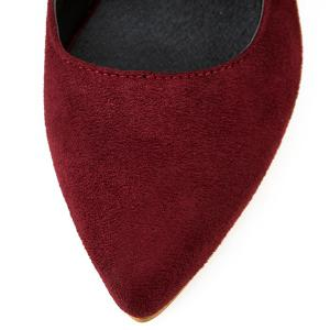 Graceful Slingback and Suede Design Pumps For Women -