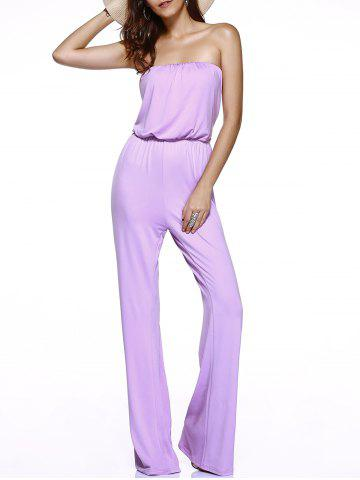 Trendy Charming Strapless High-Waisted Tie-Back Women's Jumpsuit