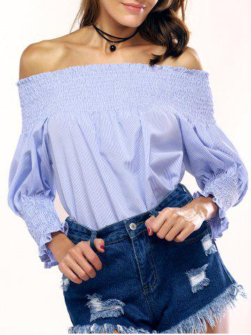 Trendy Fashionable Off-The-Shoulder Striped Blouse For Women