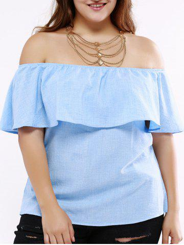 Cheap Fashionable Off-The-Shoulder Overlay Blouse For Women
