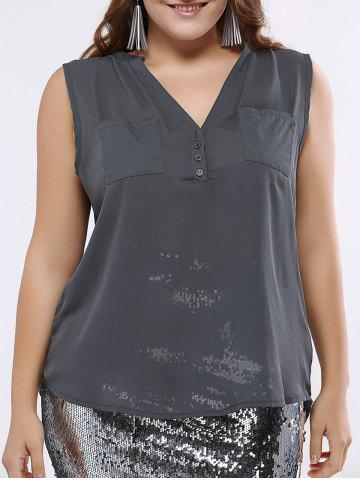 Affordable OL Style V-Neck High Low Tank Top For Women