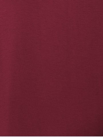 Best Tank A Line Casual Everyday Dress - L WINE RED Mobile