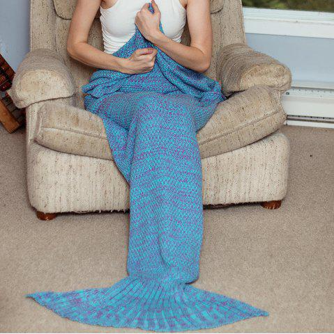 Blue Fashionable Knitted Womens Fishtail Blanket ...