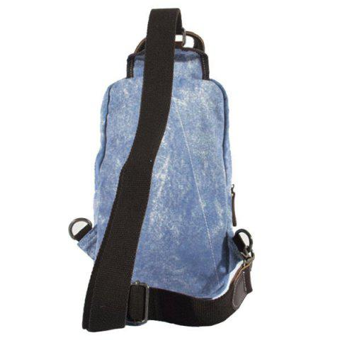 Affordable Leisure Patchwork and Buckle Design Backpack For Men - DENIM BLUE  Mobile