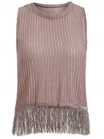 Cheap Fringe Knitted Tank Top For Women