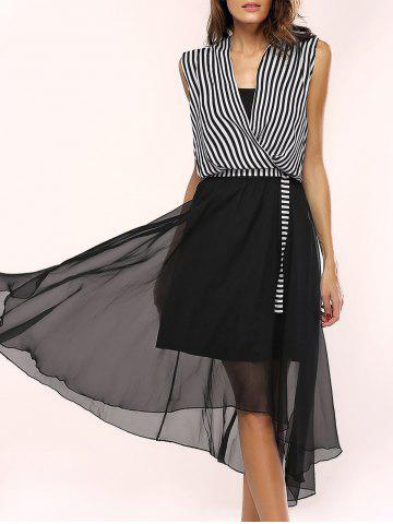 Buy Women's Stylish Irregular Dress and Striped Top Suit