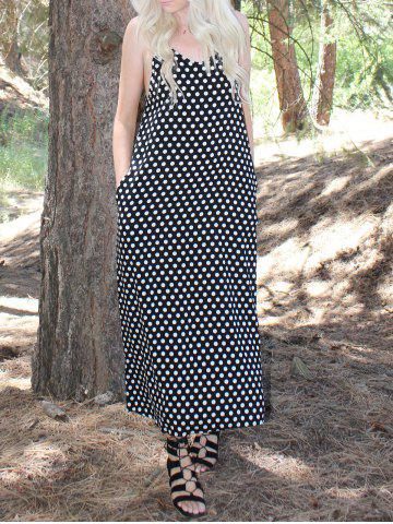 Buy Fashionable Spaghetti Strap Polka Dot Maxi Dress For Women