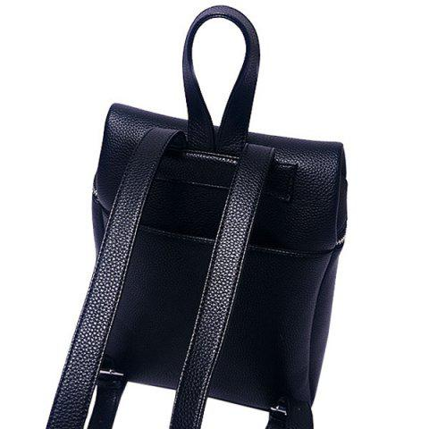 Best Fashion PU Leather and Zip Design Satchel For Women - BLACK  Mobile