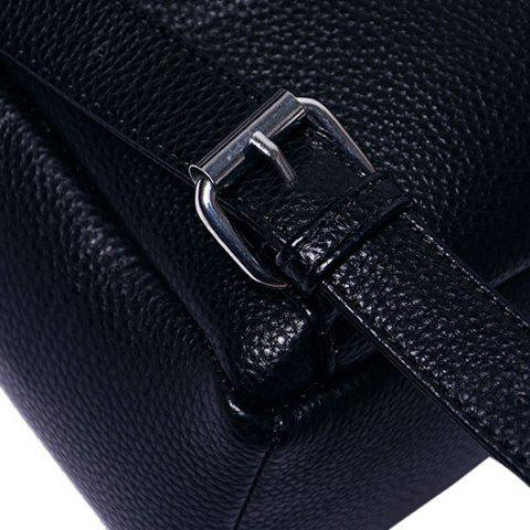 Outfit Fashion PU Leather and Zip Design Satchel For Women - BLACK  Mobile