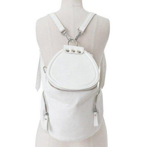 New Stylish Solid Color and Zip Design Satchel For Women