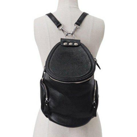 Best Stylish Solid Color and Zip Design Satchel For Women BLACK