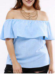 Fashionable Off-The-Shoulder Overlay Blouse For Women -