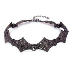 Vintage Embossed Floral Geometric Choker Necklace