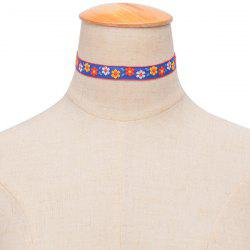Ethnic Embroidered Floral Choker