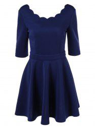 Elegant Tight Pure Color Dress For Women -