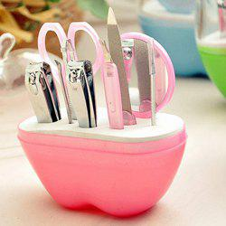 Stylish 9 Pcs/Suit Apple Shape Box Nail Clippers Nail Art Tools -