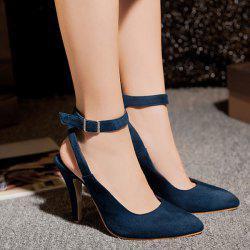 Graceful Slingback and Suede Design Pumps For Women - CADETBLUE
