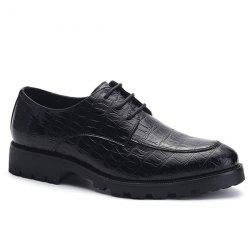 Fashionable Black and Embossing Design Formal Shoes For Men -