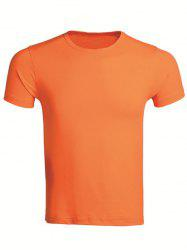 Cotton Blends Round Neck Short Sleeve T-Shirt For Men -
