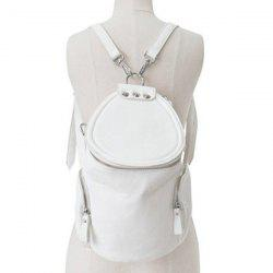 Stylish Solid Color and Zip Design Satchel For Women -
