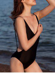 Alluring High Cut Backless One-Piece Women's Swimwear