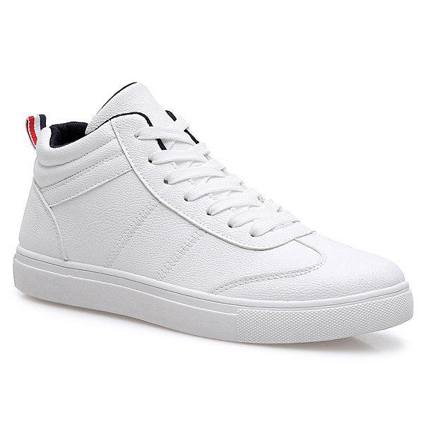 New Trendy PU Leather and Tie Up Design Casual Shoes For Men
