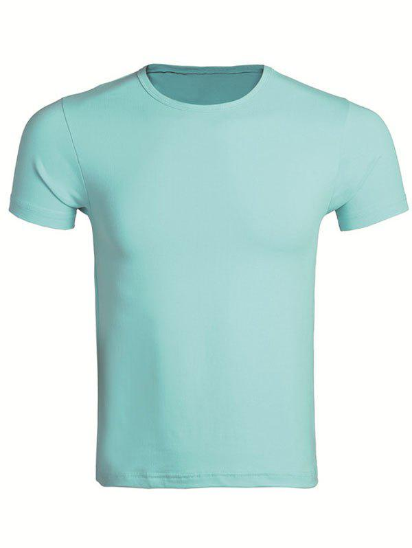 Chic Cotton Blends Round Neck Short Sleeve T-Shirt For Men