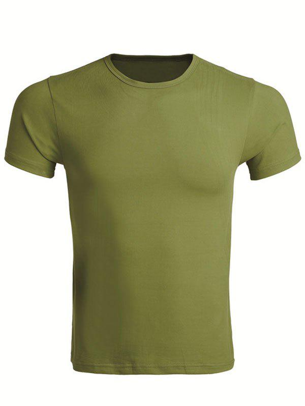 Latest Cotton Blends Round Neck Short Sleeve T-Shirt For Men