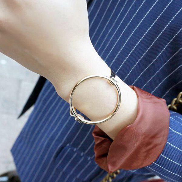 Outfit Hollow Out Big Round Circle Bracelet