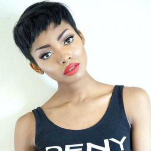 Masculine Ultrashort Black Women's Synthetic Hair Wig