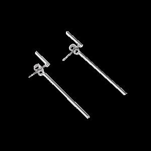 Alloy Minimalist Design Earrings - Silver